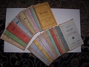 CATALOGUES - A lot of twenty-five bookseller catalogues Offering Fine Books, Interesting and Rare...