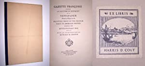 GAZETTE FRANCOISE, A Facsimile Reprint of a Newspaper Printed at Newport on the Printing Press of...