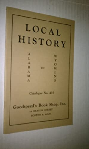 LOCAL HISTORY Alabama to Wyoming - Catalogue 435