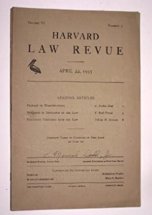 Harvard Law Revue ( April 22, 1935 ) [A Satirical Lampoon of the Harvard Law Review] including Re...