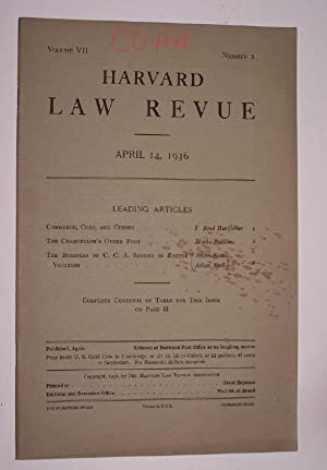 Harvard Law Revue ( April 14, 1936 ) [A Satirical Lampoon of the Harvard Law Review] including Co...
