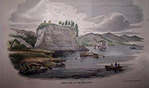Tower-Rock, on the Mississippi [ Hand-colored wood engraving ]