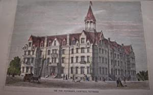 THE FISK UNIVERSITY, NASHVILLE, TENNESSEE [ Hand-colored wood engraving ]