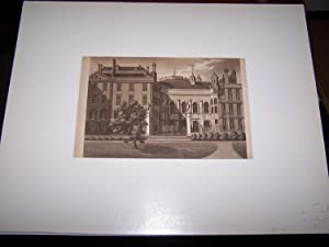 The Middle Temple of the Inns of Court [Sepia Aquatint]
