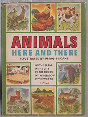 Animals Here and There (in original dust jacket): Doane, Pelagie (illus)