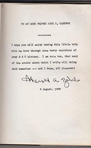 Electrons Away or Tales of A Government Scientist (with signed letter): Zahl, Harold Abelbert