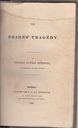 The Bride's Tragedy: Beddoes, Thomas Lovell