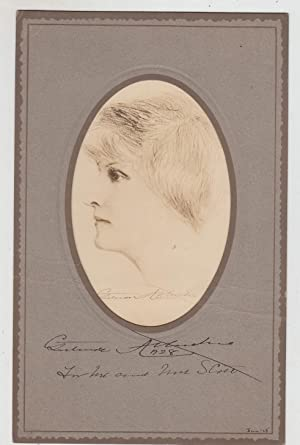 Signed and inscribed publisher's portrait dated 1928: Atherton, Gertrude