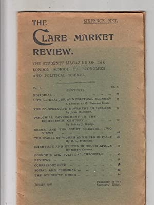 Life, Literature, and Political Economy--A Lecture (in) The Clare Market Review Vol. 1 No. 2 ...