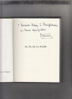 Au Fil De La Plume (inscribed by the author): Wanson, Leon