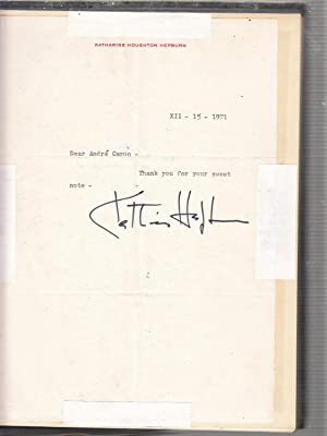 The Films of Katharine Hepburn (with Signed Letter from Katherine Hepburn): Dickens, Homer