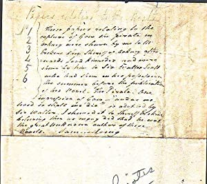 Autograph Note signed relating to Pirates and Sir Walter Scott: Laing, Samuel