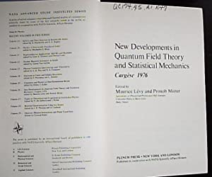 New Developments in Quantum Field Theory and: Levy, Maurice /