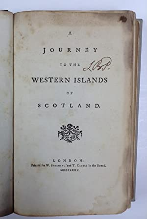 A journey to the Western Islands of Scotland. [First edition, first issue].: Johnson, Samuel.