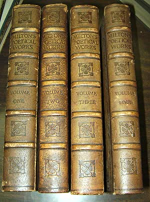 THE POETICAL WORKS OF JOHN MILTON FOUR VOLUME SET