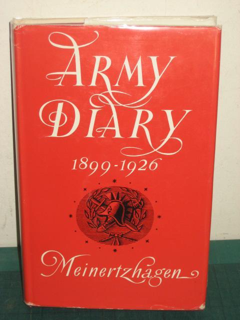 ARMY DIARY 1899-1926 Meinertzhagen (Colonel R.)