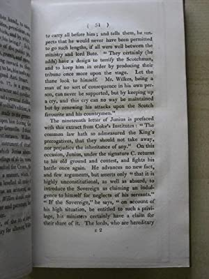 LETTERS TO A NOBLEMAN, PROVING A LATE PRIME MINISTER TO HAVE BEEN JUNIUS: Johnston (Andrew Gregory)