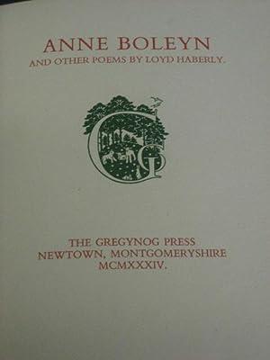 ANNE BOLEYN AND OTHER POEMS: Haberly (Loyd)