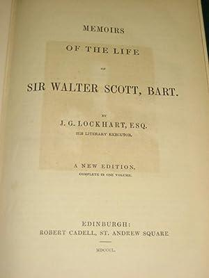 MEMOIRS OF THE LIFE OF SIR WALTER SCOTT, BART.: Lockhart (J.G.)