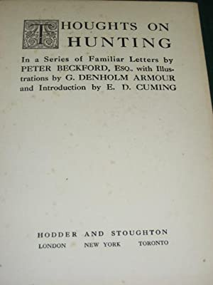 THOUGHTS ON HUNTING: Beckford (Peter)