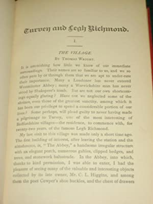 TURVEY AND LEGH RICHMOND with an Account of the Mordaunts: Munby (G.F.W.) & Wright (Thomas)