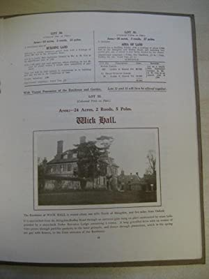 SALES DETAILS OF THE WICK HALL ESTATE BETWEEN OXFORD AND ABINGDON