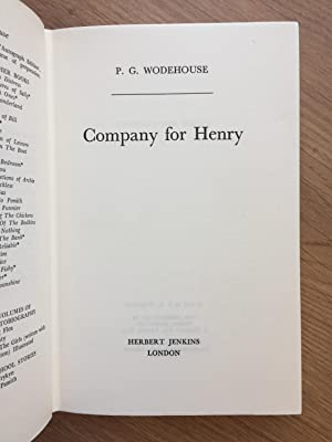 COMPANY FOR HENRY: Wodehouse (P.G.)