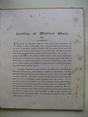 HUNTING AT WHADDON CHASE : 1573: Ed. Lacy (Charles E.)