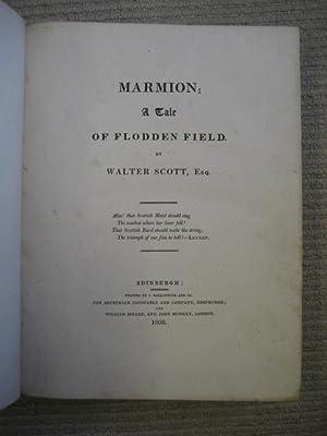 MARMION; A TALE OF FLODDEN FIELD: Scott (Walter)