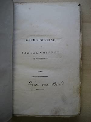 GENIUS GENUINE.a fine part in riding a race, first Edition: Chifney (Samuel