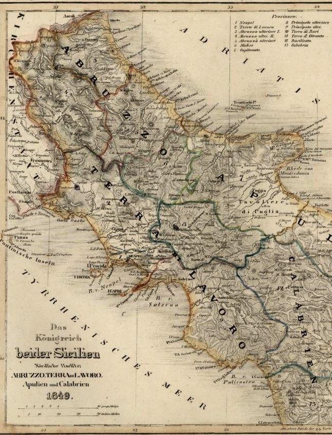 Southern Italy Naples Mt Vesuvius Napoli Sicily Meyer - Vesuvius map