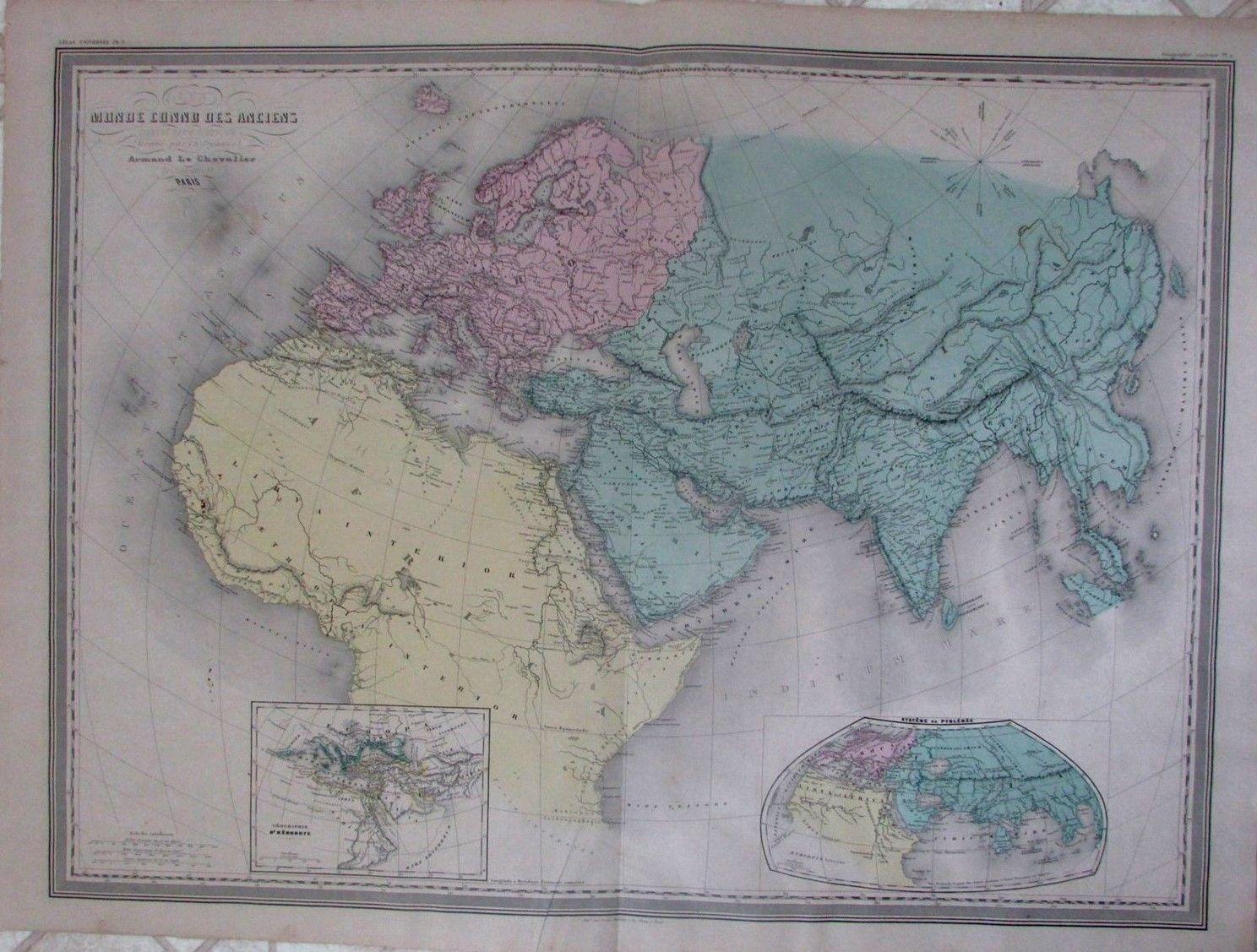 Ancient World Africa Asia Arabia Beautiful C 1860 Scarce Massive Old