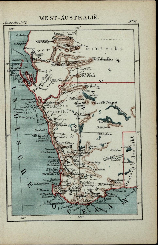 Map Of Australia 1880.Western Australia New Holland Old Antique