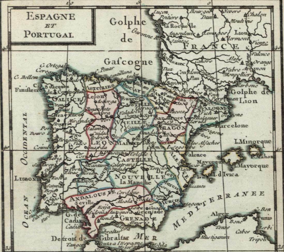 Map Of Spain Old.Spain Portugal Iberian Peninsula Lisbon