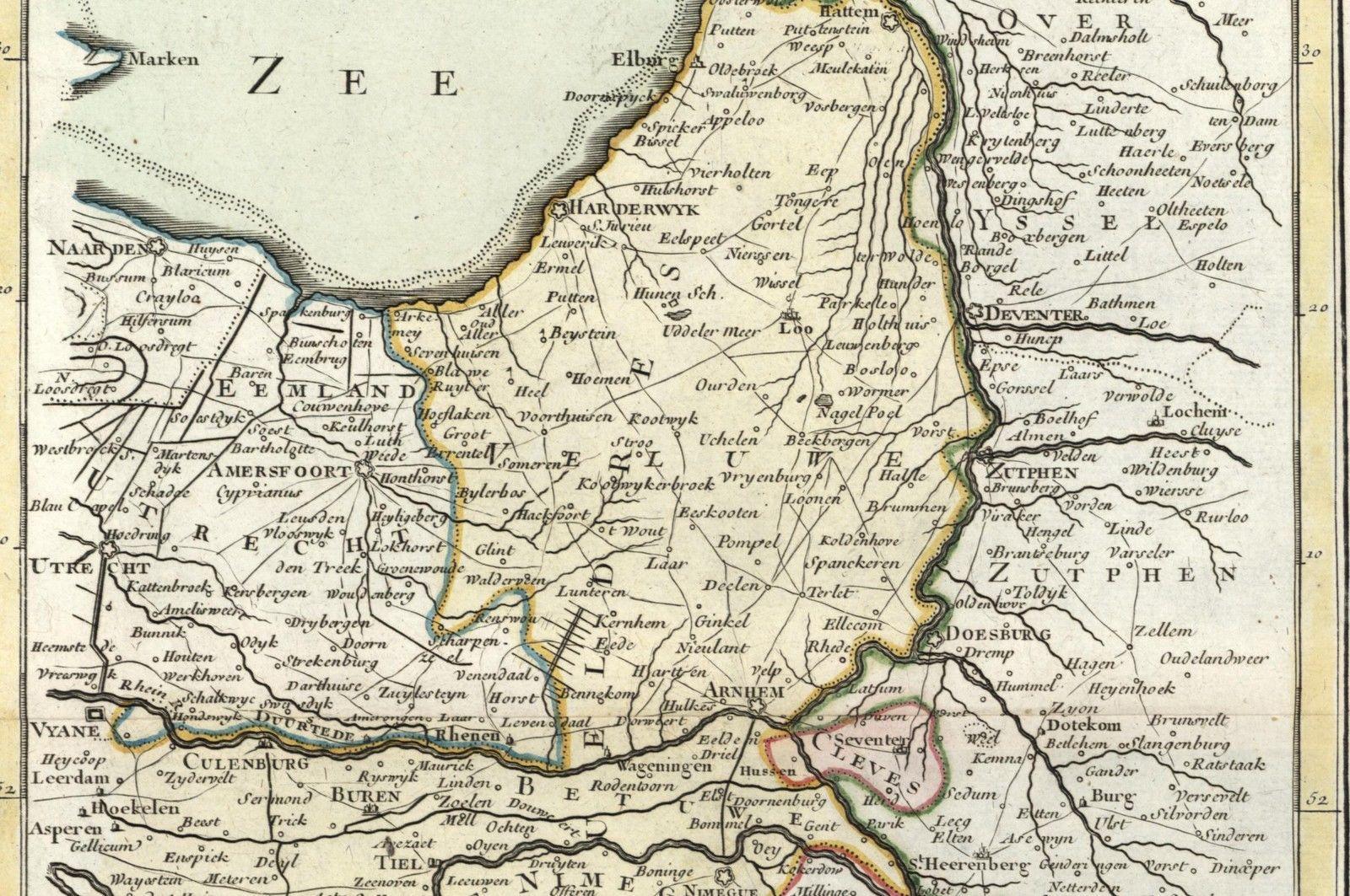 Duchy Gueldres Gelderland Nederland Holland Netherlands 1768 Le