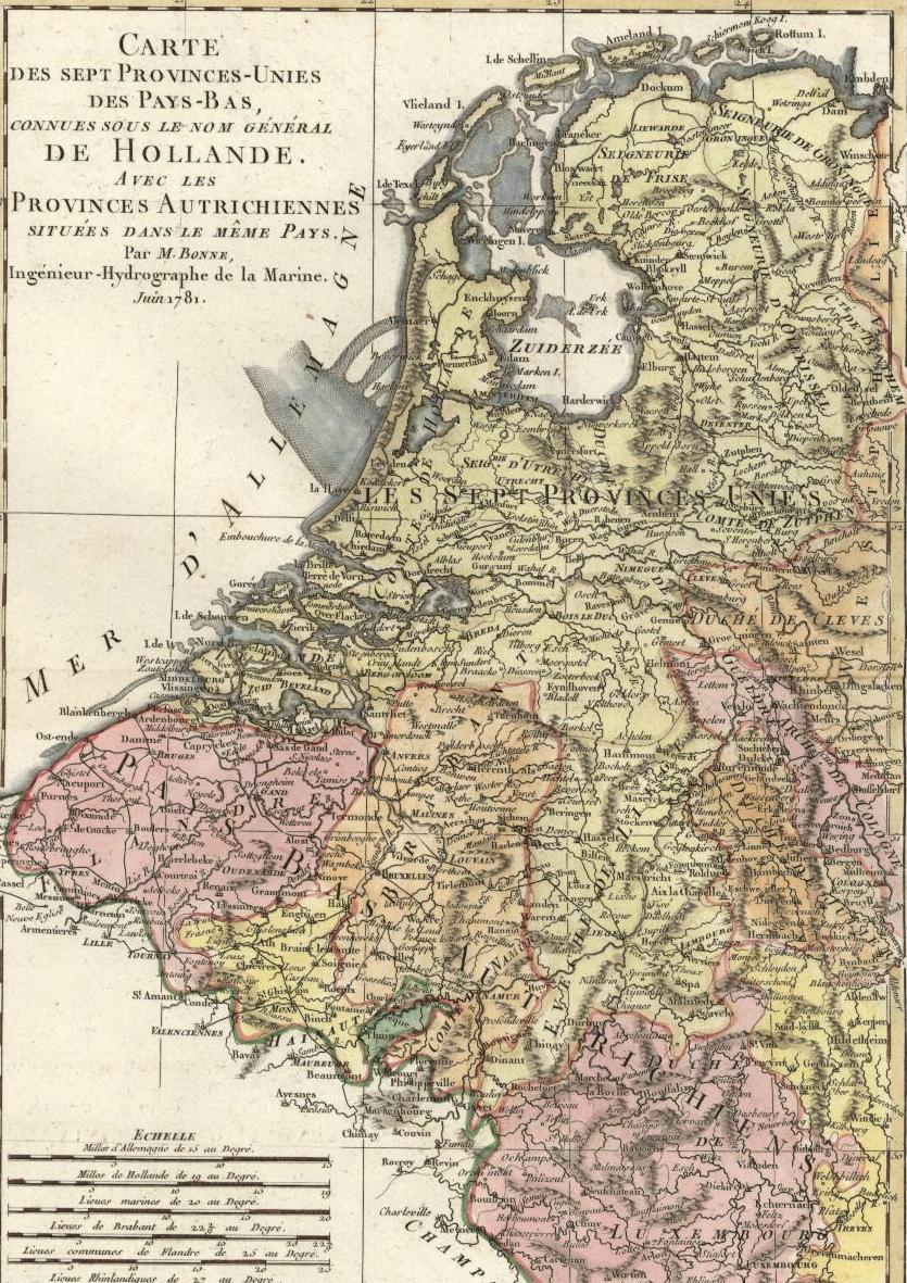 Map Of Northern France Belgium.Netherlands Belgium Holland Flanders