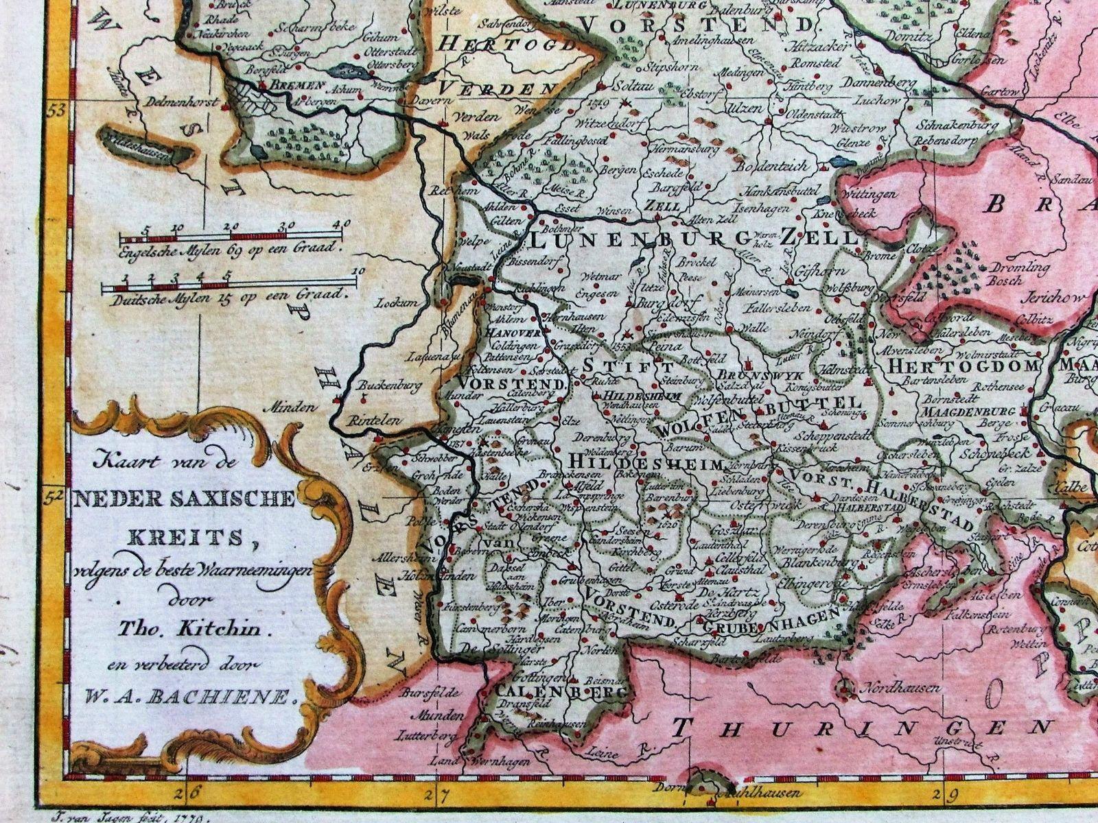 Northern Germany Holstein Brandenburg Pomerania 1778 Rare Bachiene
