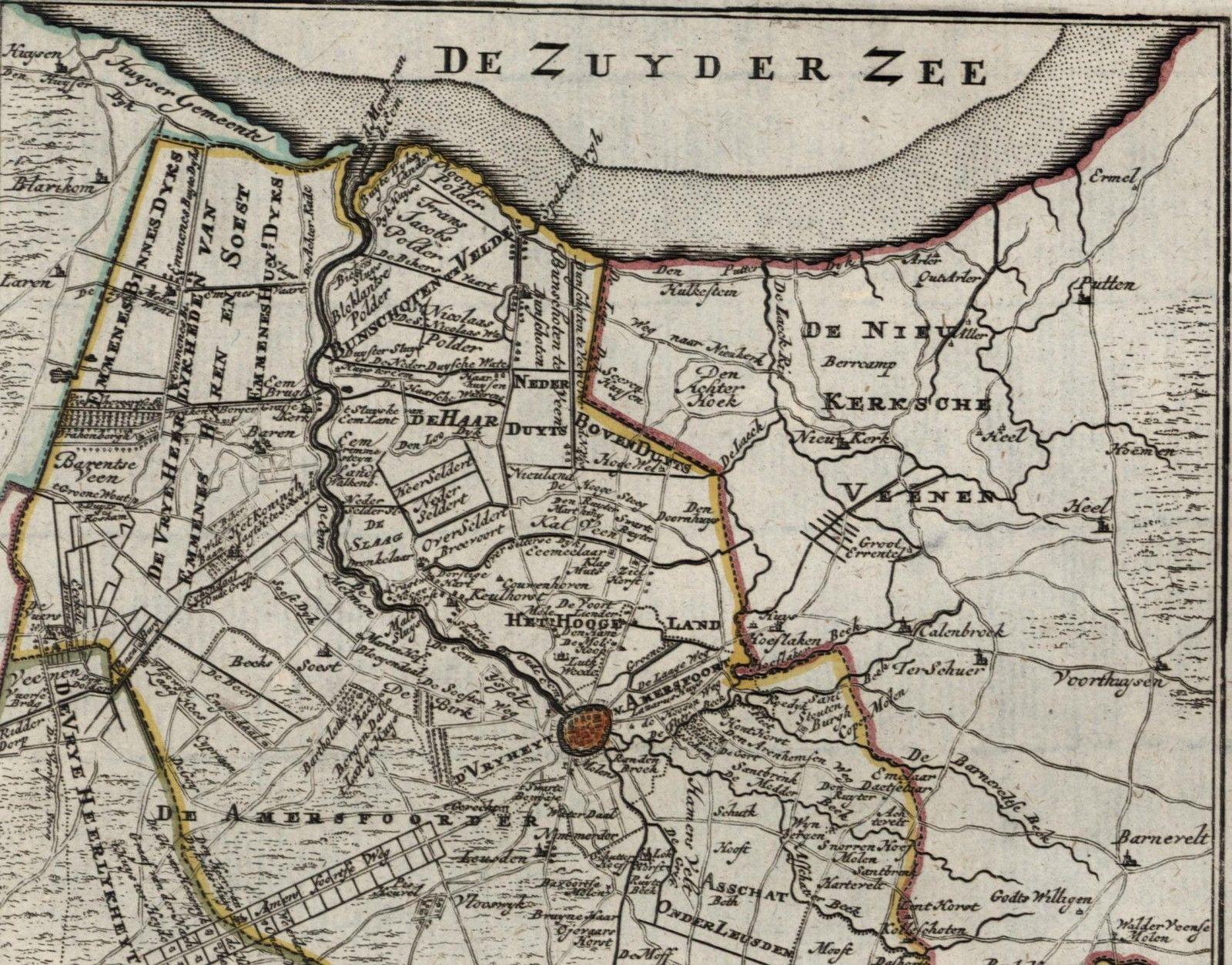 EemLanden Amersfoort Utrecht Holland Netherlands city plan c 1770