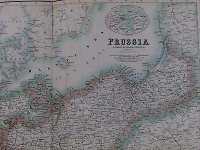 Prussia Germany Poland Bohemia River Oder Saxony C 1850 Fullarton