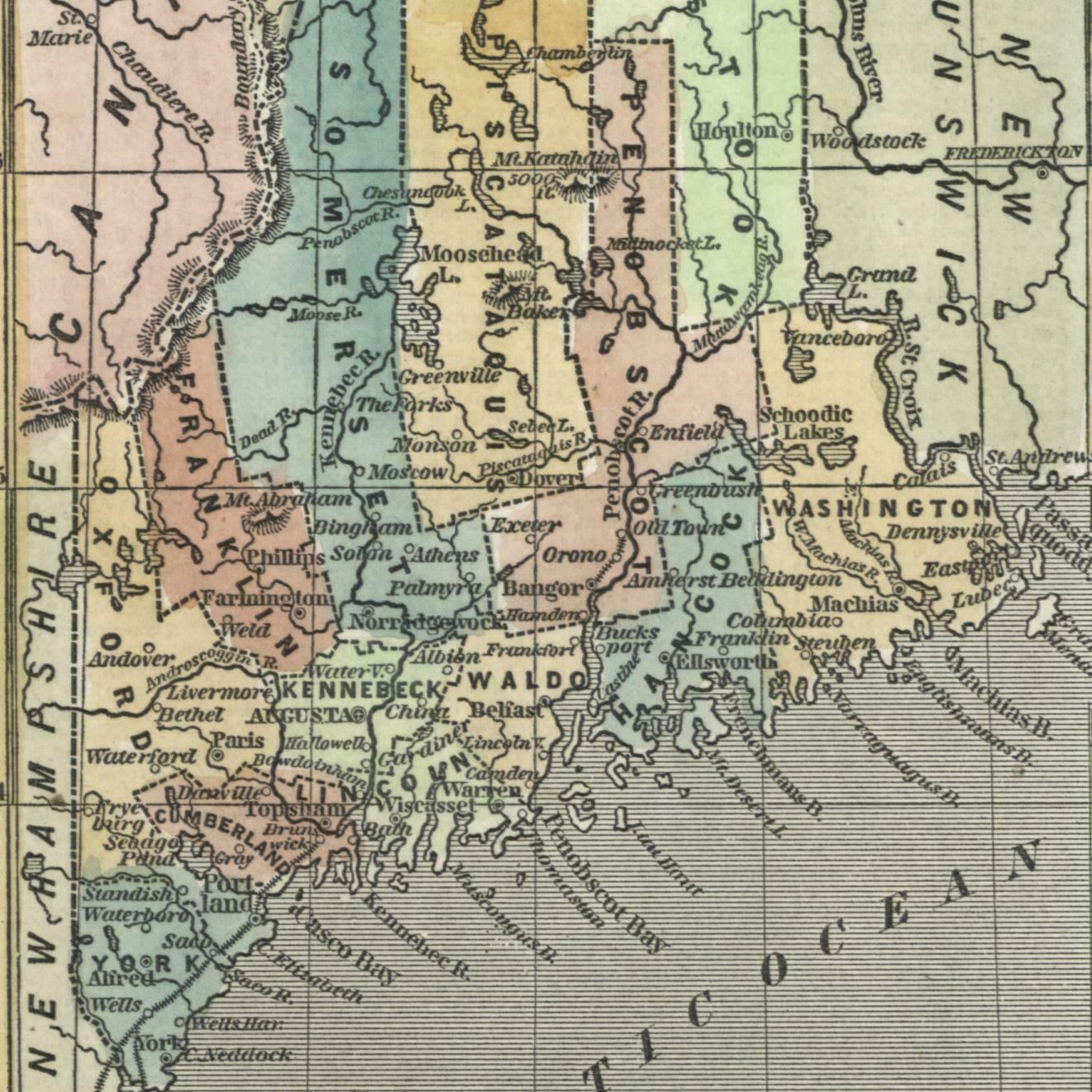 Maine state old map 1853 Phelps cerography ... on pillars of eternity map, destiny map, the forest map, thief map, fallen earth map, canyonlands national park map, moab utah map, dark souls map, total eclipse map, project zomboid map,