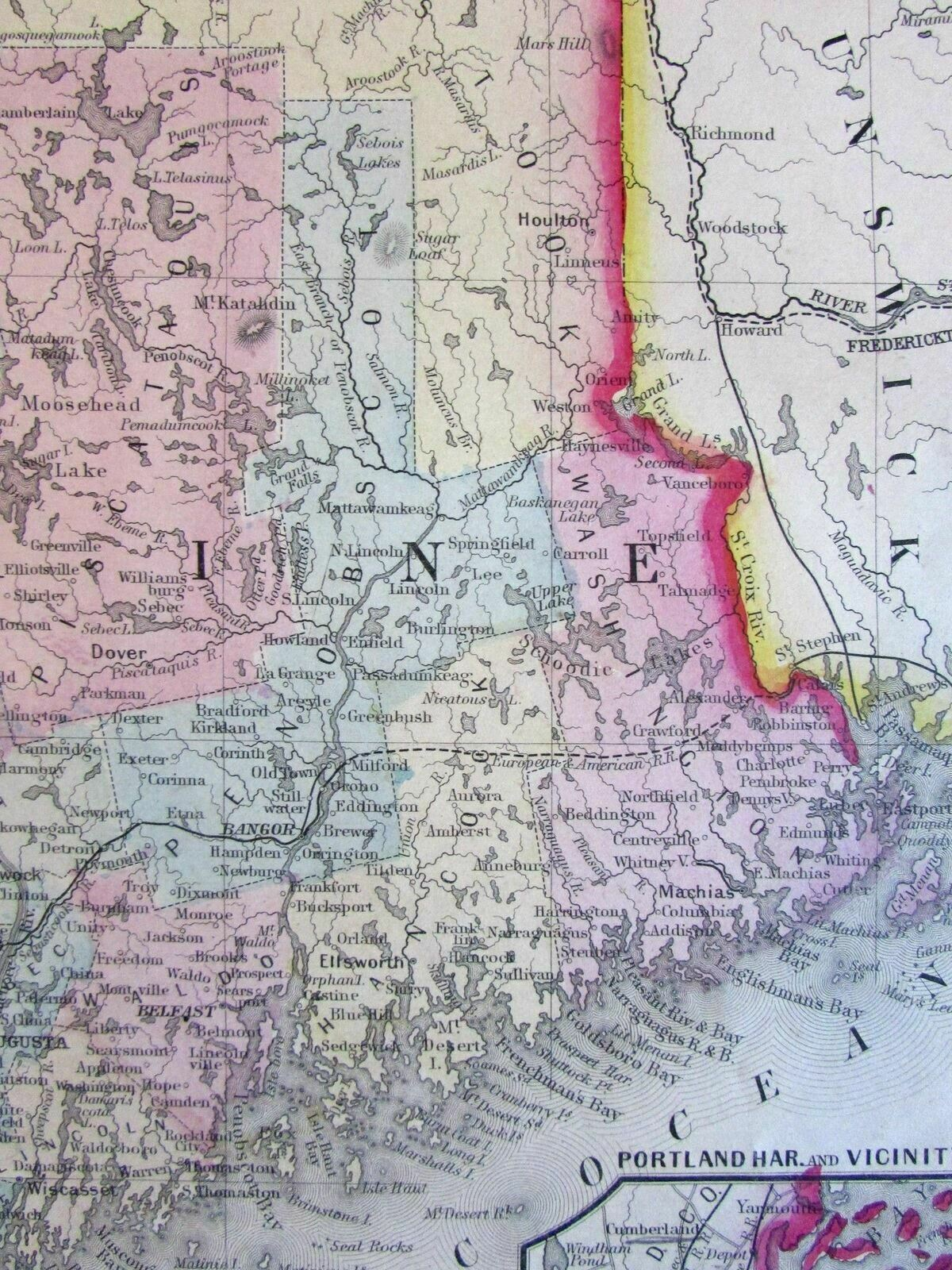 Maine state 1860 Mitchell fine early version