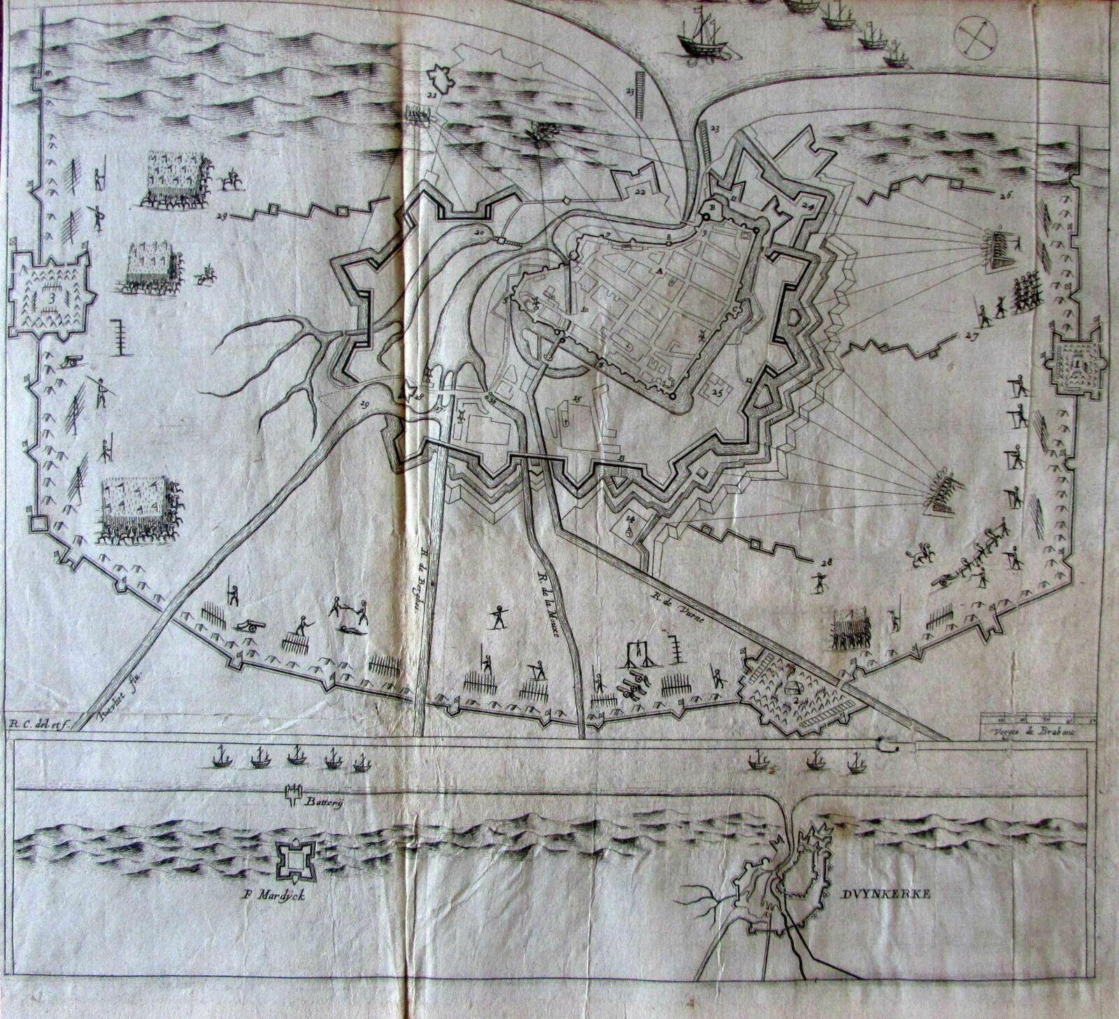 Map Of Northern France Coastline.Dunkirk Northern France Coast Battle Map C
