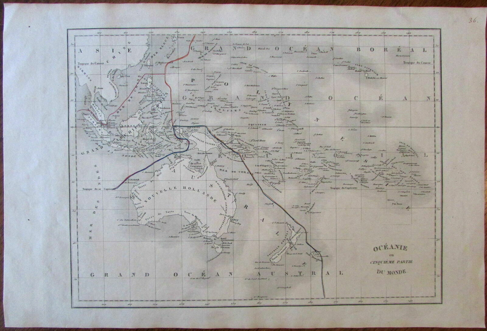 Map Of Australia 1830.Australia New Holland Oceania Australasia
