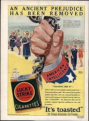 Lucky Strike No Cough Cigarettes Winsor McCay 1929 vintage color Advertisement