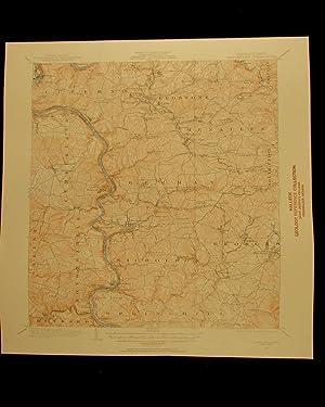 Masontown Pennsylvania vintage 1957 original USGS Topographical