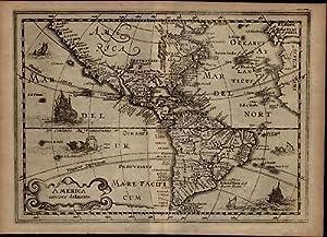 America Noviter Delineata Hondius 1630 Cloppenburg van der Keere miniature map