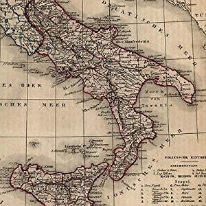 Shop italy collections art collectibles abebooks raremapsandbooks southern italy 1854 sicily sicilia italia sardinia old map gumiabroncs Choice Image