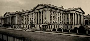 Treasury building early view Washington D.C. 1887 view print photogravure