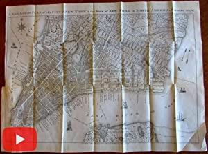 New York City 1795 city plan Hayward 1853 lithographed issue detailed map