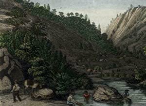 Gold Digging panning California c.1848-50 Mokelumne River near Sutter's Mill